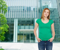 Smiling teenage girl in casual clothes Royalty Free Stock Photography