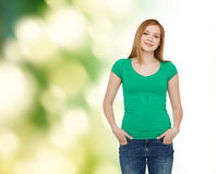 Smiling teenage girl in casual clothes Royalty Free Stock Photo