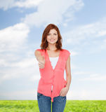 Smiling teenage girl in casual clothes Stock Image