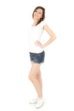 Smiling teenage girl, full length Royalty Free Stock Photo