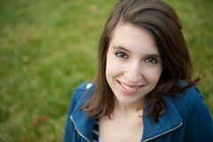Smiling teenage girl outisde Stock Images