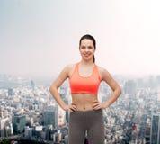 Smiling teenage girl in sportswear Royalty Free Stock Image