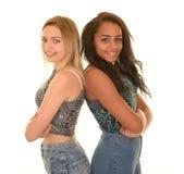 Smiling teenage girls Stock Photo