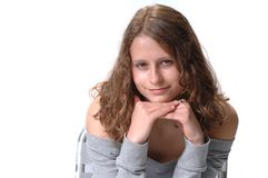Smiling Teenage Schoolgirl Royalty Free Stock Photo