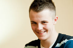 Smiling teenager. Portrait of handsome smiling teenager Royalty Free Stock Image