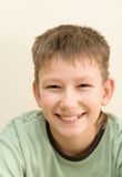Smiling teenager. Smile have no one cuspid tooth Royalty Free Stock Photo