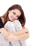Smiling teenager girl stock photography