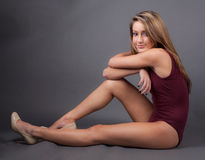 Smiling Teenager In Leotard Stock Photos