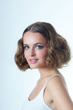 Smiling teenager model Royalty Free Stock Image