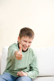 Smiling Teenager Show Thumb Up Sign Royalty Free Stock Photo