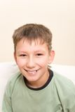 Smiling teenager. Smile have no one cuspid tooth Royalty Free Stock Images
