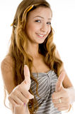 Smiling teenager student with thumbs up Stock Image