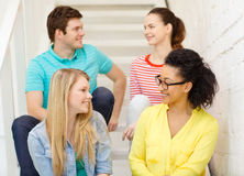 Smiling teenagers hanging out Stock Images