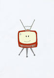 Smiling television set Royalty Free Stock Image