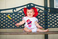 Smiling 4th of July Baby Royalty Free Stock Images