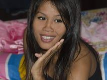 Smiling Thai Lady. Stock Photos