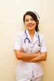 Smiling of Thai nurse Stock Images