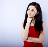 smiling thinking woman Royalty Free Stock Image
