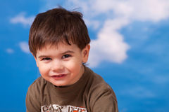 Smiling three year old boy Stock Photos