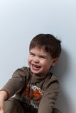 Smiling three year old boy Royalty Free Stock Photos