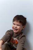 Smiling three year old boy Royalty Free Stock Photos