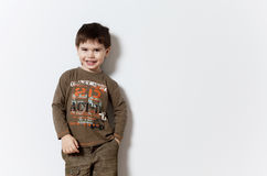 Smiling three year old boy Stock Images