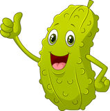 Smiling Thumbs Up Pickle cartoon Stock Photography