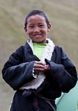 Smiling Tibetan boy from Dolpo, Nepal Royalty Free Stock Images
