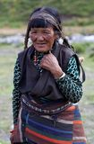 Smiling Tibetan woman in Upper Dolpo, Nepal Royalty Free Stock Photography