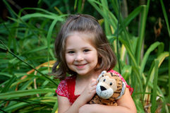 Smiling with Tiger Royalty Free Stock Photo