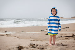 Smiling toddler at the beach Royalty Free Stock Images