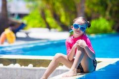 Smiling toddler girl having fun in outdoor Royalty Free Stock Photo