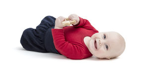 Smiling toddler isolated in white background Royalty Free Stock Photos