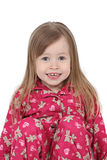 Smiling toddler in pajamas Royalty Free Stock Photo