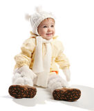 Smiling toddler in winter clothes Royalty Free Stock Photos