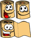 Smiling toilet paper rolls Stock Images