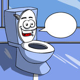 Smiling Toilet with speech bubble Stock Photos