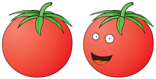 Smiling tomato Stock Photo