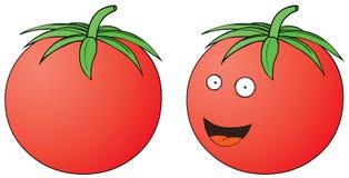 Smiling tomato Stock Photo