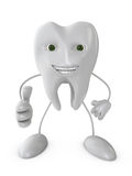 Smiling tooth Stock Images