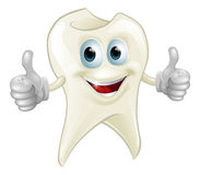 Smiling tooth mascot Royalty Free Stock Photo