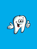 Smiling tooth thumb up welcoming Royalty Free Stock Photography