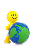 Smiling toy little man Stock Photo