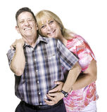 Smiling Transgender Man and Woman Posing Close Together Stock Image