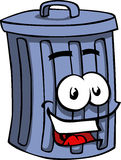 Smiling Trash can Stock Images