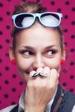 smiling trendy girl Stock Photo