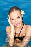 Smiling Tropical Beauty Stock Photos