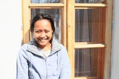 Smiling tropical girl royalty free stock photos
