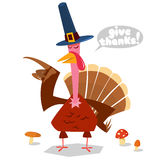 Smiling Turkey Bird Cartoon Character Looking With Speech Bubble And Text Royalty Free Stock Photo