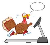 Smiling Turkey Cartoon Character Running Stock Photo